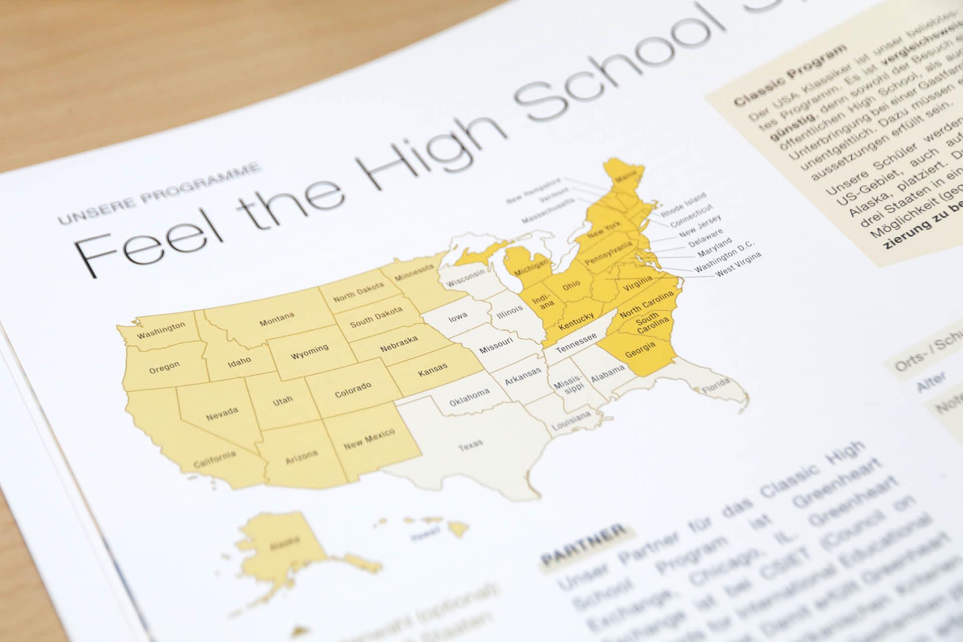 MAP Re-Design Katalog Detail Karte der USA