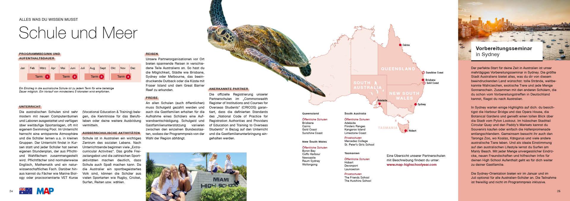 MAP Re-Design Katalog Doppelseite Australien