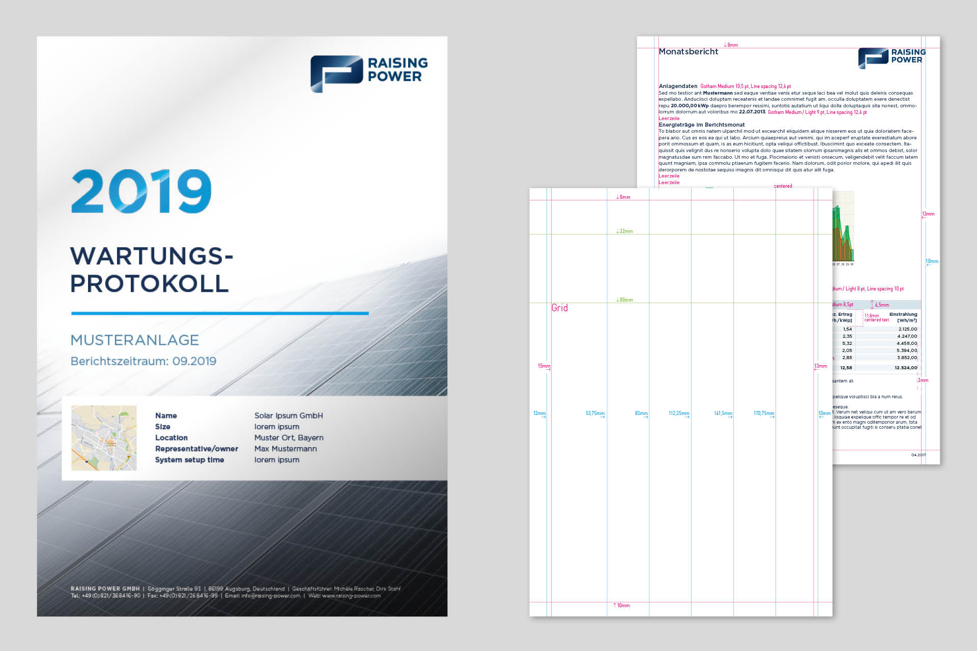 Raising Power Corporate Design Template Wartungsprotokoll