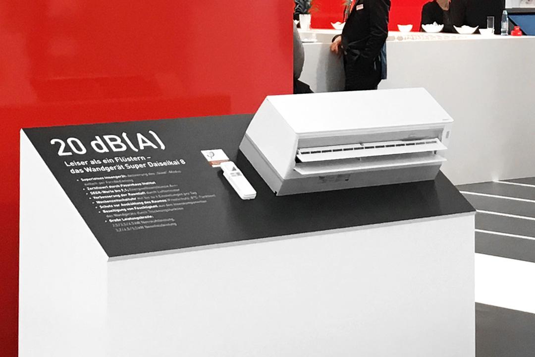 Toshiba Klimasysteme Messestand, Exponat Design