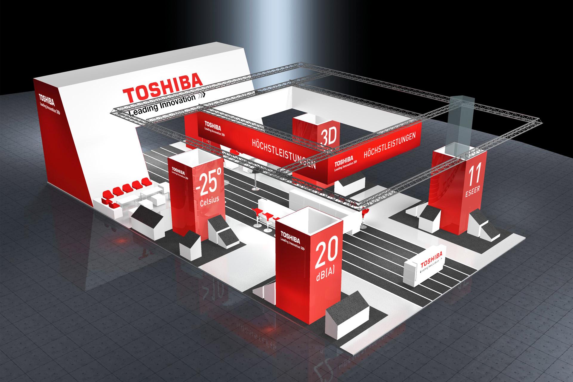 Toshiba Klimasysteme Messestand Chillventa, Rendering