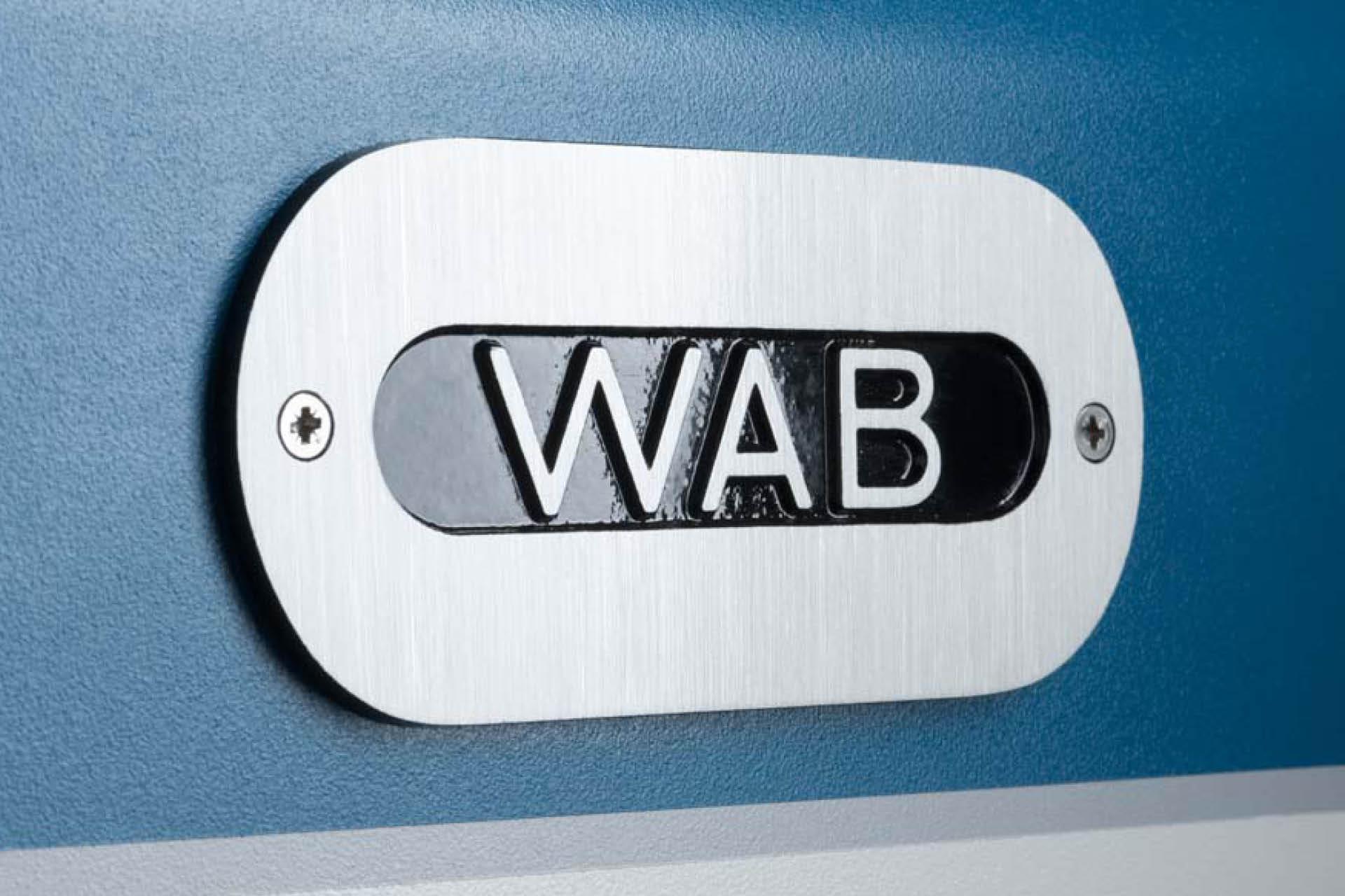 WAB Logo auf Maschine