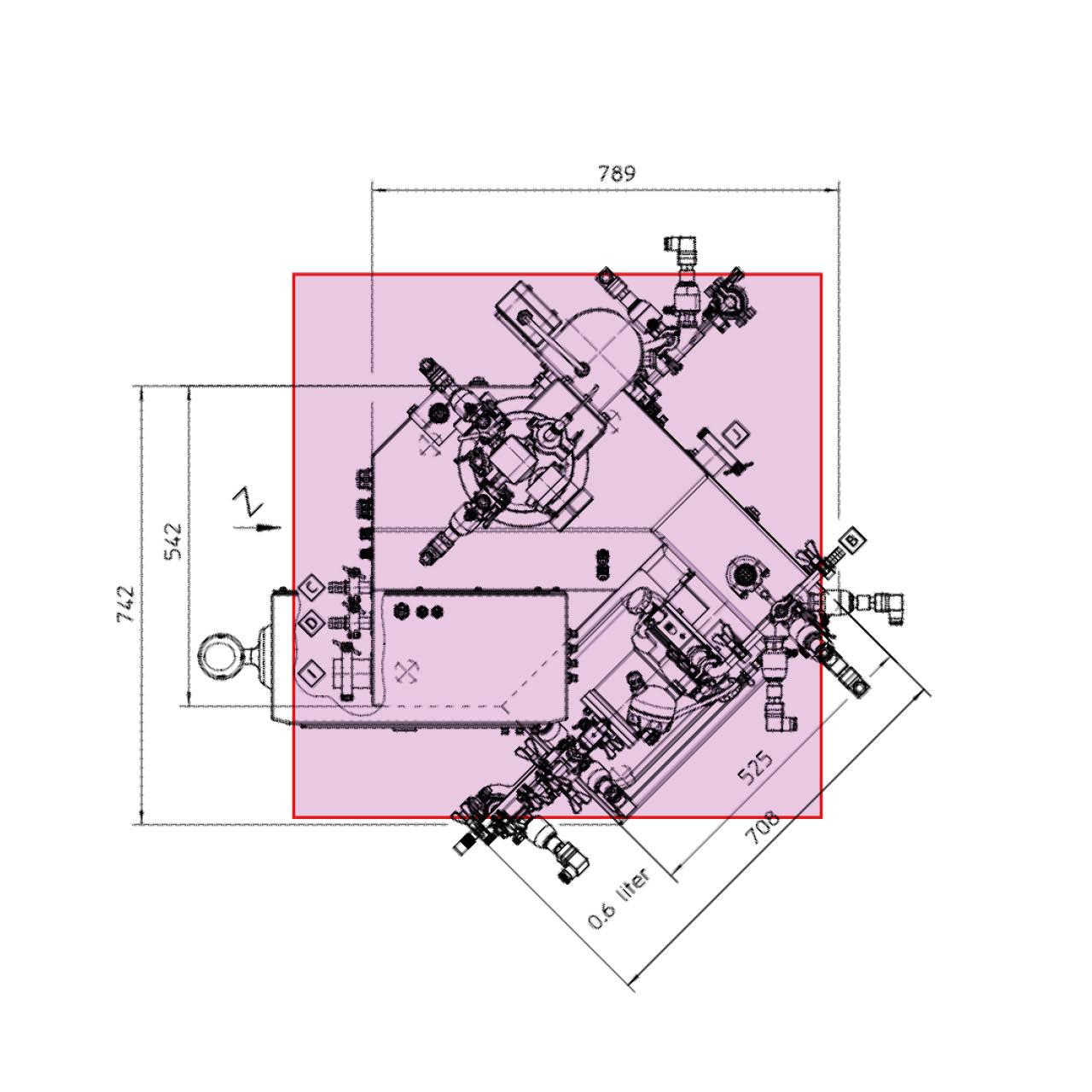 WAB Messestand Planungsskizze Podest für Exponat