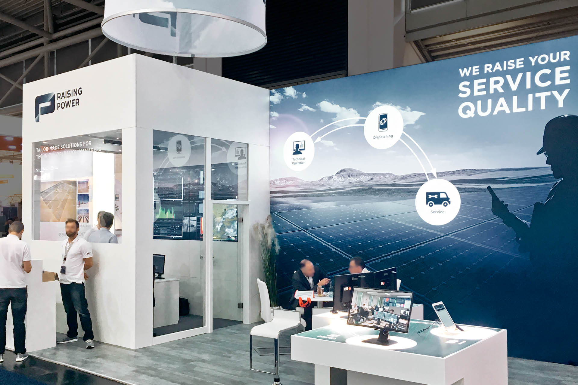 Raising Power Corporate Design Messestand Intersolar Übersicht