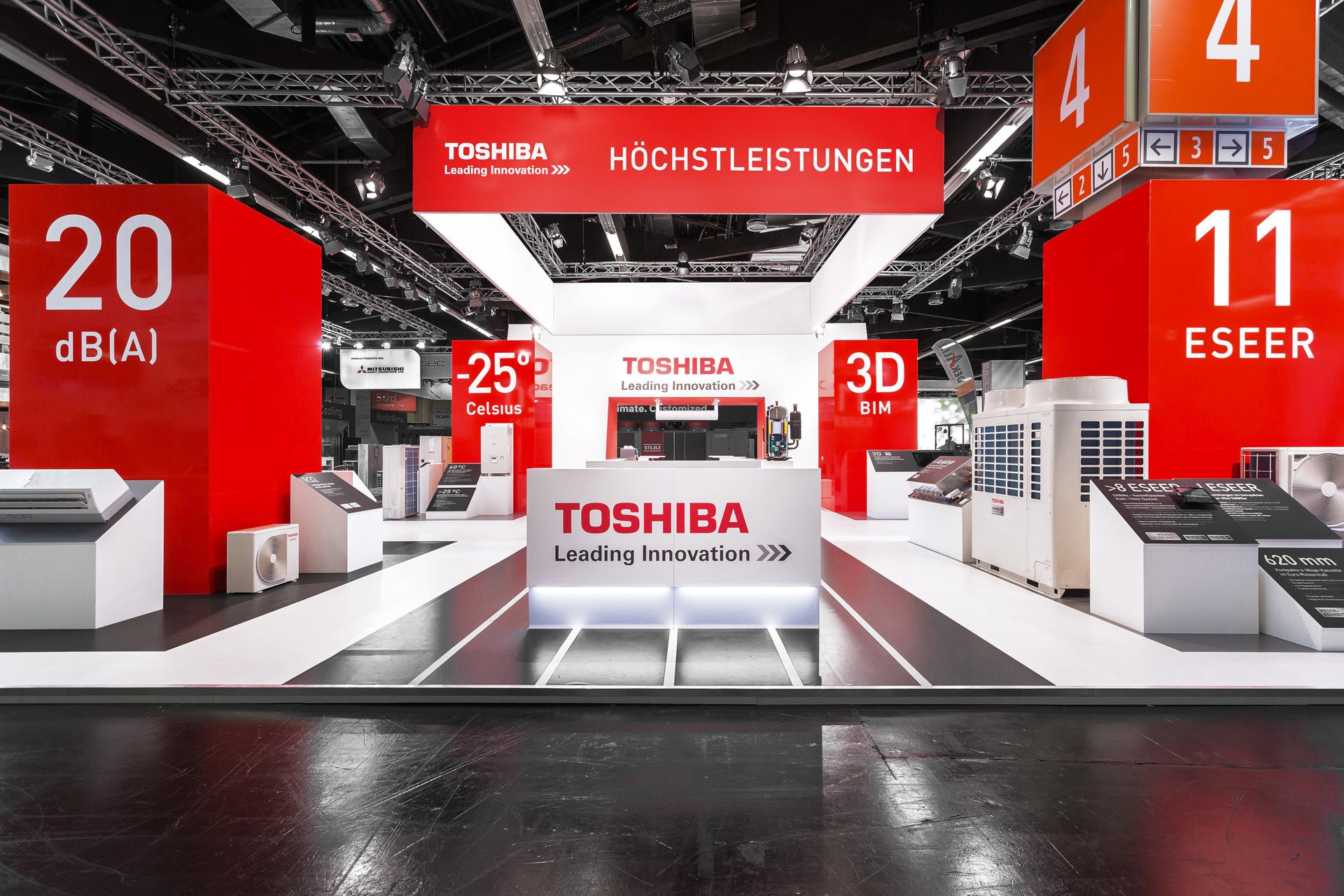 Toshiba Klimasysteme Messestand auf der Chillventa
