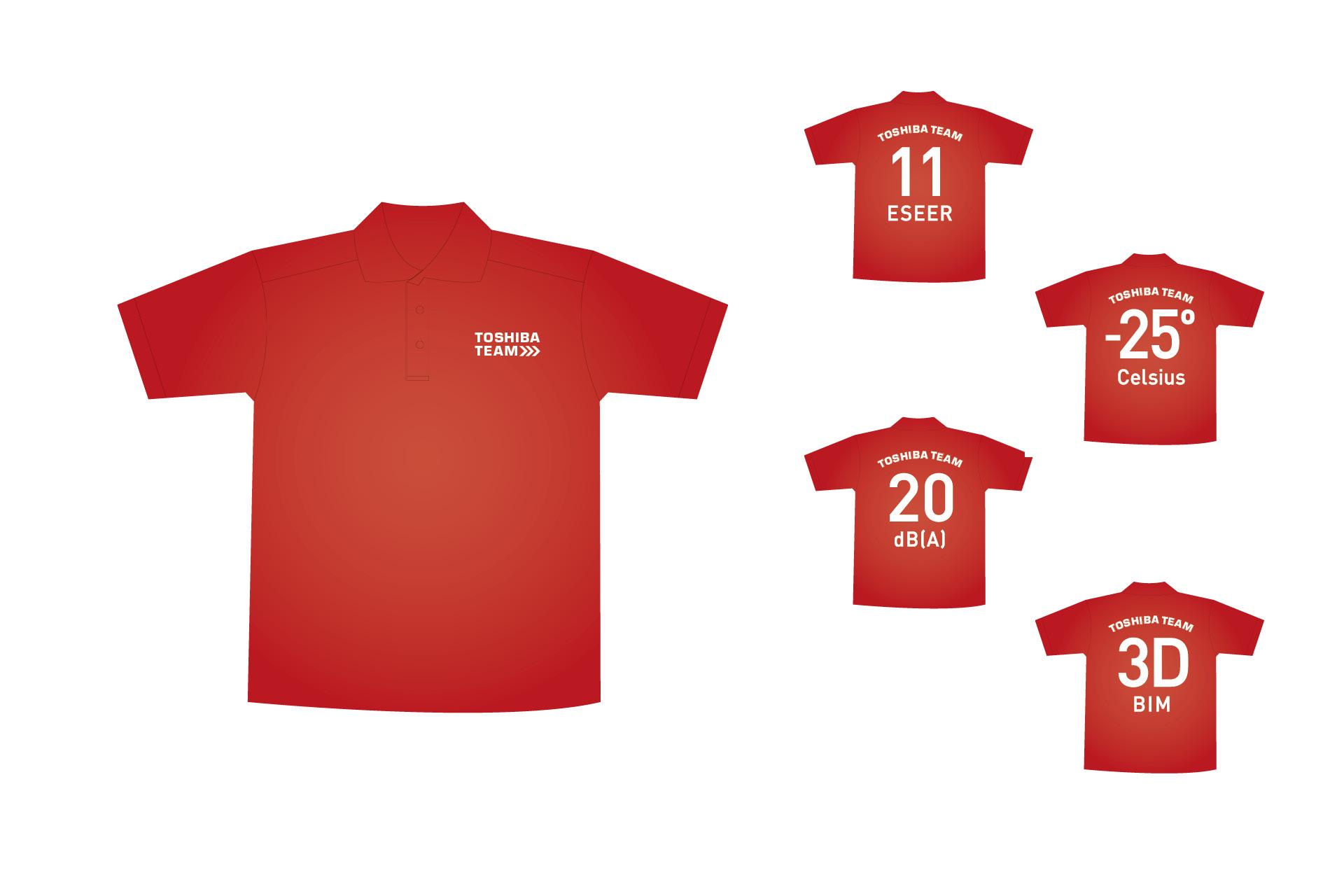 Toshiba Klimasysteme Teambekleidung Motive