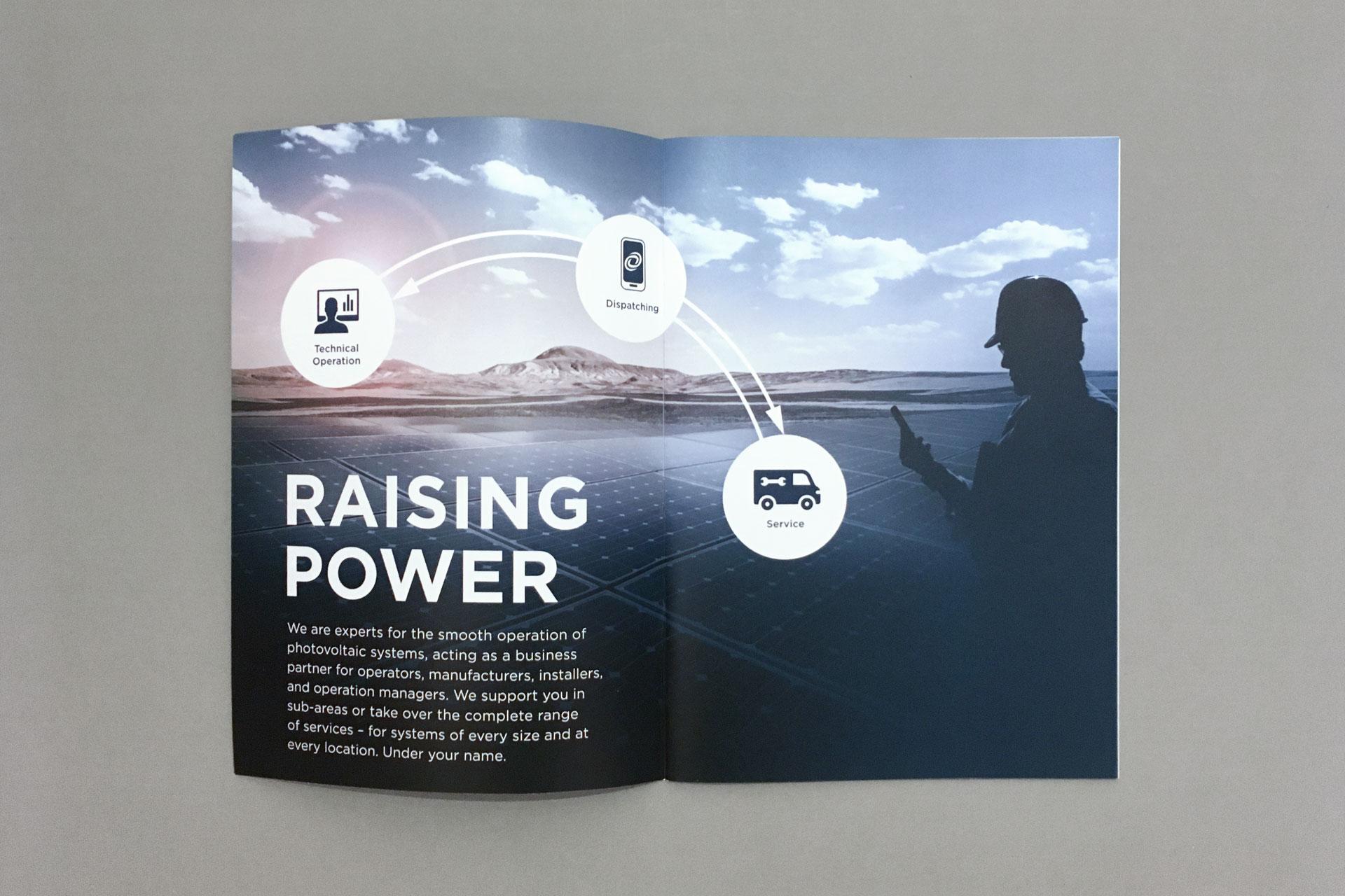 Raising Power Broschüre von Werbeagentur communicativa München