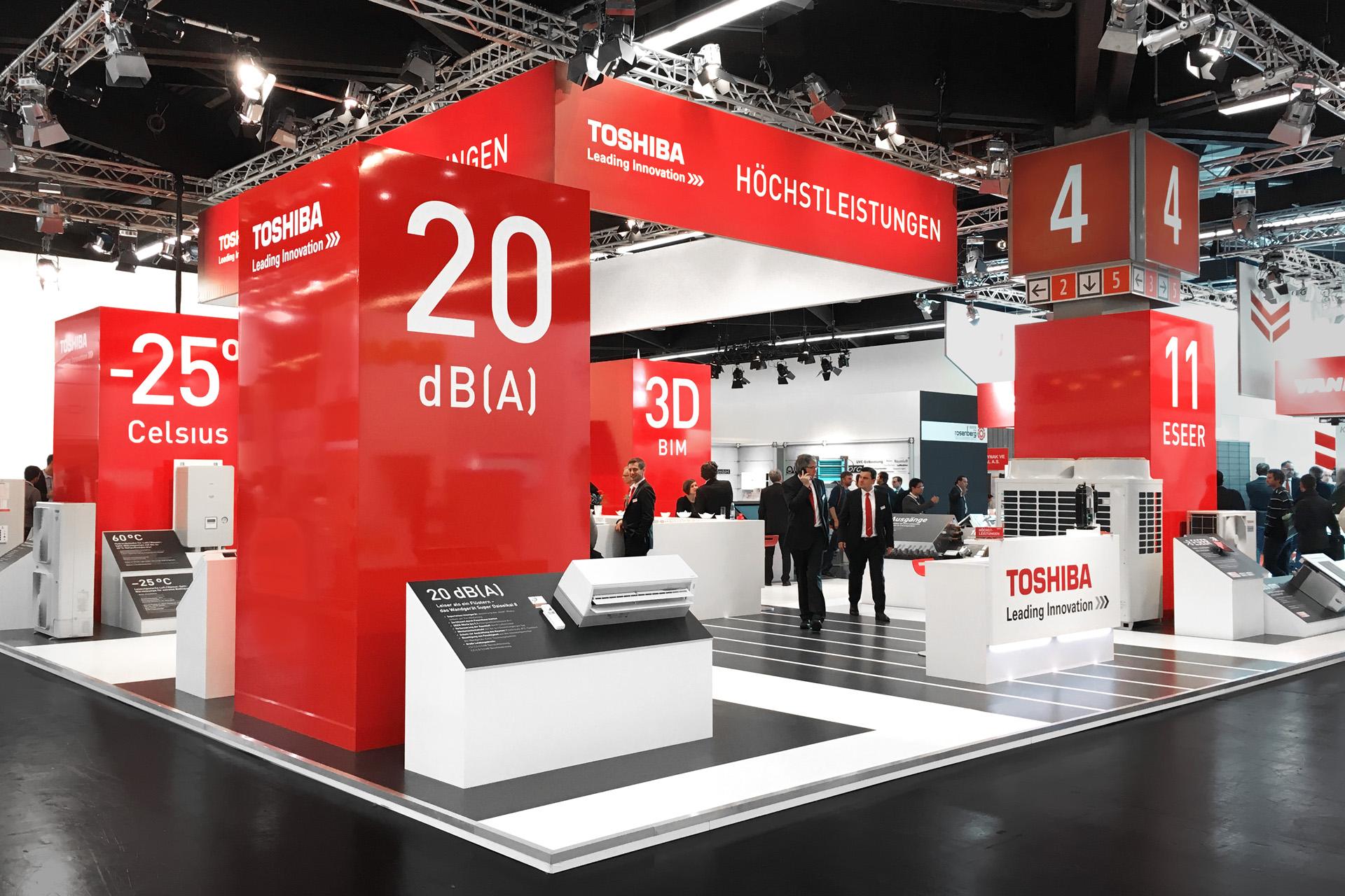 Toshiba Klimasysteme Messestand von Werbeagentur communicativa München
