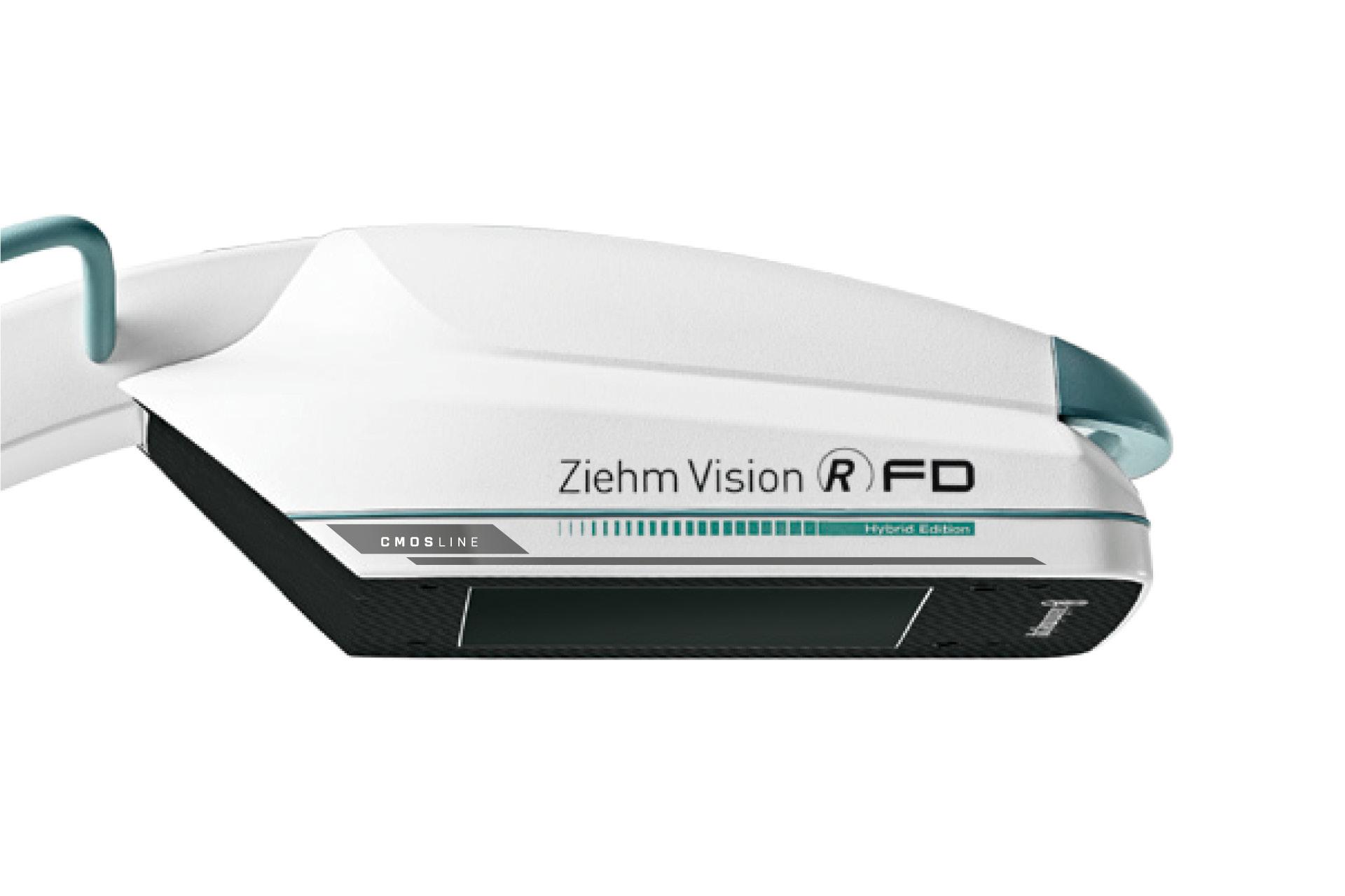 C-Bogen-Detektor mit Produktkennzeichnungen CMOSline und Hybrid Edition